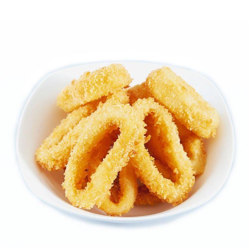 Кальмари фрі з сирним соусом